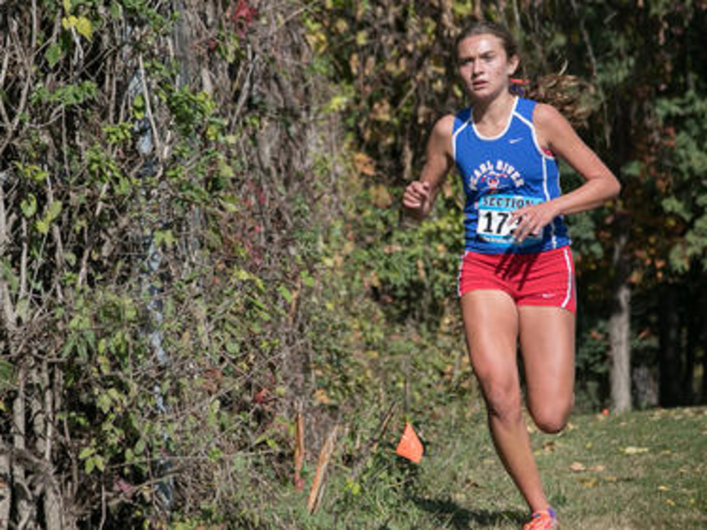 Pearl River's Mary Borkoski competing at the 2015 Section