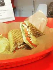 The Caprese panini at Joey's Custard is made with basil