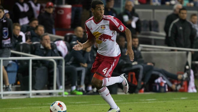 Wappingers Falls' Tyler Adams, a New York Red Bulls midfielder, controls the ball against the San Jose Earthquakes on April 13 in San Jose, California.