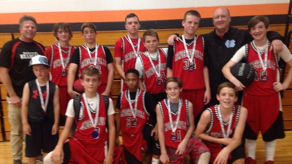 The Hendersonville Bearcats seventh-grade boys basketball team won its age division at last weekend's Tiger Tussle tournament.