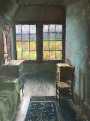 """""""Upstairs Bedroom at Naumkeag"""" by Judith Scull was awarded Best of Show for the Society of New Jersey Artists' exhibit, """"Passages,"""" which is on display through March 25 at Gallery 50 in Bridgeton."""