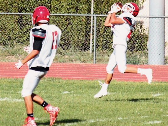 Danny Udero/Sun-News   After posting two interceptions last week, quarterback Andru Sanchez will attempt to get his passing game back on track against Robertson on the road.