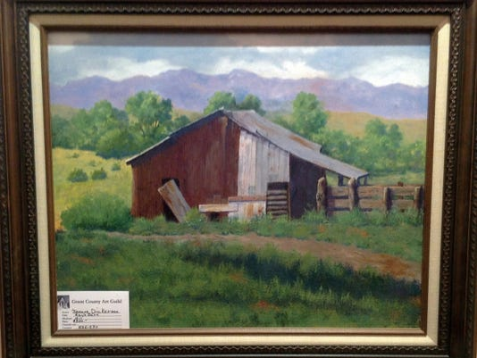 """Courtesy Photo   """"Ray's Barn"""" is an oil painting by award-winning Grant County Art Guild member Jeanne Dickerson."""
