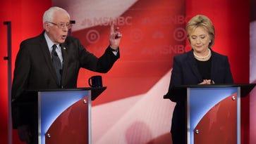 Bernie Sanders and Hillary Clinton at a Democratic Ddebate in Durham, N.H. on Feb. 4, 2016.
