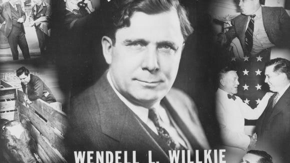 A Wendell Willkie presidential campaign poster. ( Library of Congress Prints and Photographs Division)