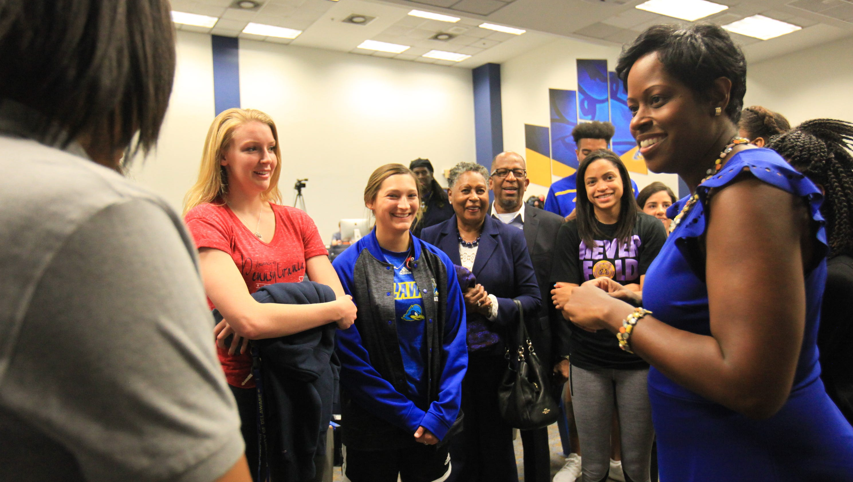 Adair introduced as Delaware women's basketball coach