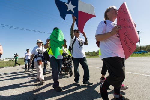 Marching for immigration reform