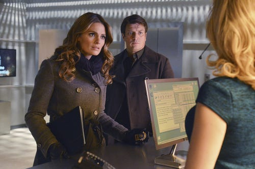 Uh oh, Beckett looks concerned. (Photo: Eric McCandless, ABC)