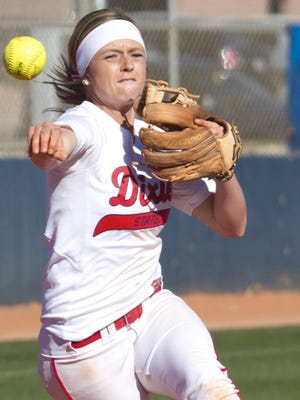 Dixie State shortstop Josey Hartman broke a program record for games played and games started after passing Courtney Hine two weeks ago in the series against Concordia-Irvine. The Senior sits atop the DSU record books with 221 games played and started. Hartman hasn't missed a game since starting as a freshman.