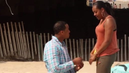 Bryan Taylor proposes to Brittani Taylor.