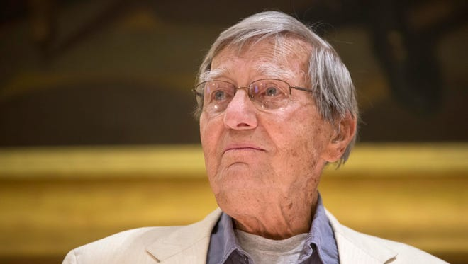 A celebration of the life and work of poet Galway Kinnell was held at the Statehouse in Montpelier on Thursday.