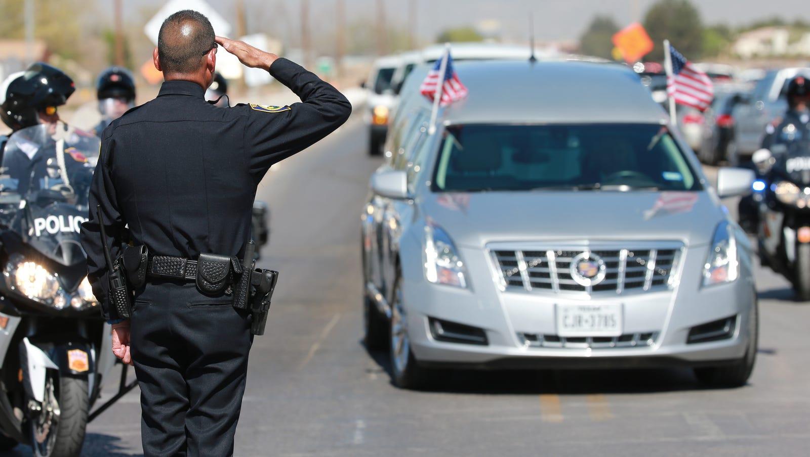 2016 funeral for El Paso Police Officer David Ortiz, killed by car