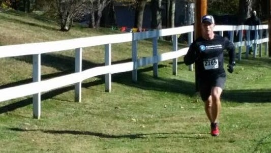 Chambersburg's Jason Huber ran to victory at last weekend's Twisted Turkey Trail Tussle 5K in Fairfield.
