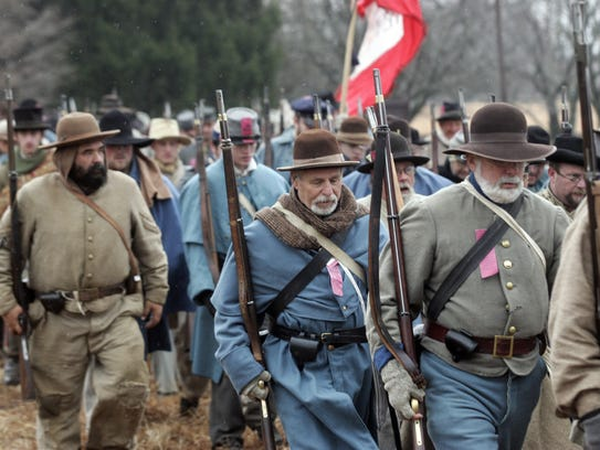 Re-enactors show up for the anniversary of the Battle