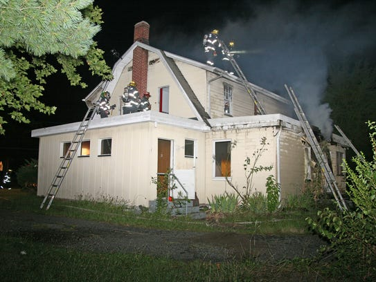 The home sustained heavy damage to the back of the