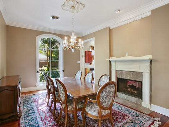 The dining room has an elegant yet inviting appeal.