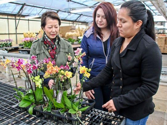 From left, Teresa Matsui, Vanessa Gonzalez and: Brenda