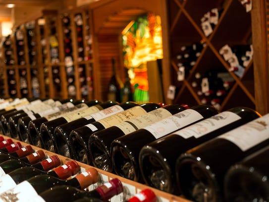 Wine at Restaurant Latour at Crystal Springs.
