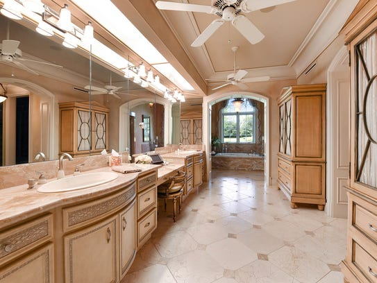 The master bath is huge and luxurious.