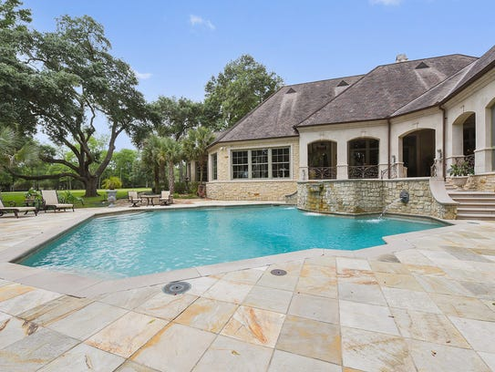 The pool is an outdoor retreat.