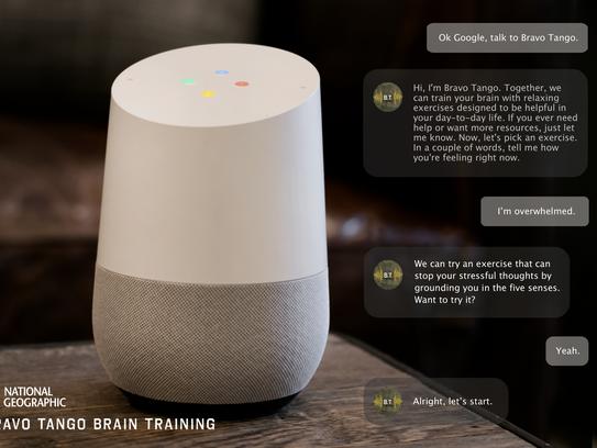 A demo of the Bravo Tango Brain Training app of Google