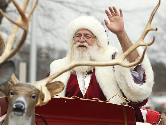 The annual Christmas parade features Old St. Nick himself.