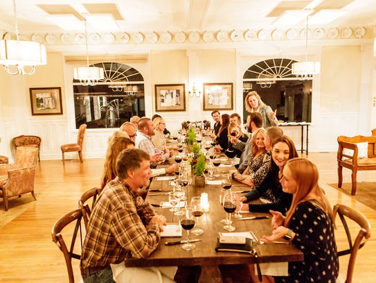 Customers dine at the Stanley Hotel.