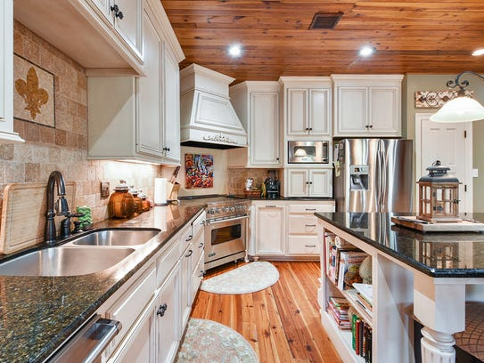 The kitchen is well equipped  to handle any gathering.