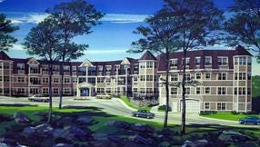 The Sutton Manor condominium complex in Mount Kisco is shown in this rendering released at the time it was being constructed, in 2004.