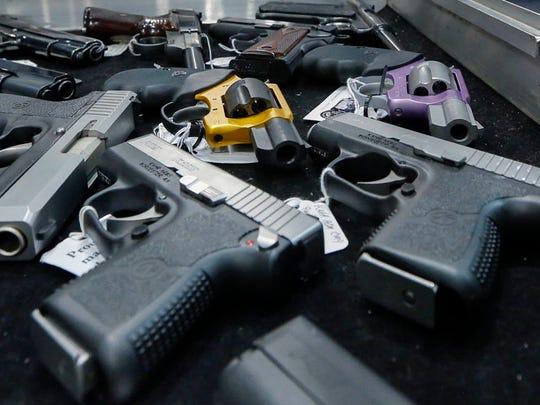 Gun show in Albany, N.Y., in 2013.
