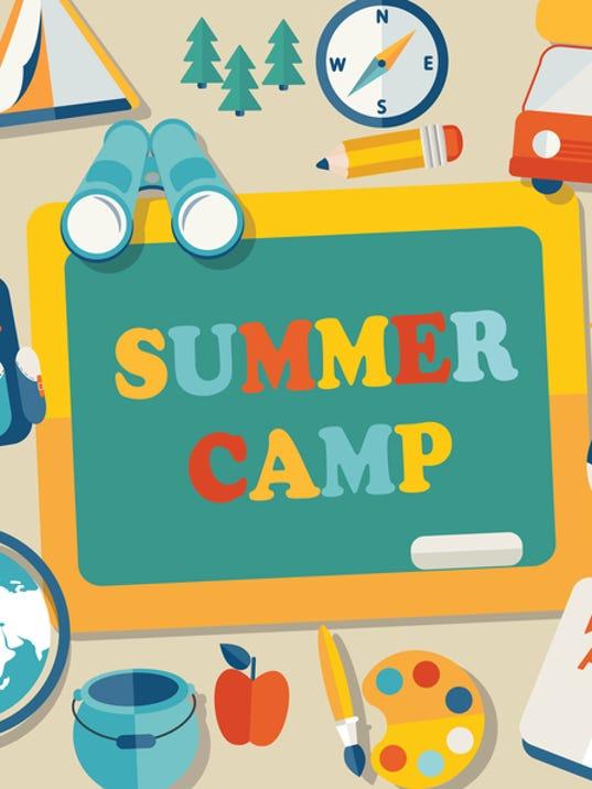 Summer camp illustration.