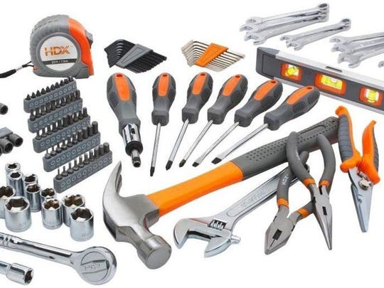 Tools usually go on sale at home improvement stores in November.
