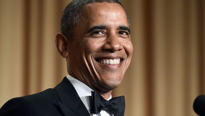 President Obama at last year's White House Correspondents Association dinner.