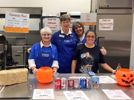 Altrusa members volunteered at the Nob Hill Halloween Festival Oct. 28 with proceeds from the concession to be used for needed items in the special education classrooms. From left are Mary Ann McLemore, Mary Jane Thomas, Judy Atkins and teacher assistant Kelli Hammond.