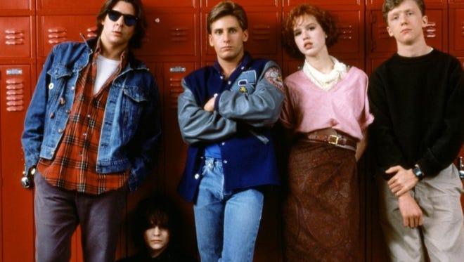 """The Breakfast Club"" stars, from left, Judd Nelson, Ally Sheedy, Emilio Estevez, Molly Ringwald and Anthony Michael Hall."
