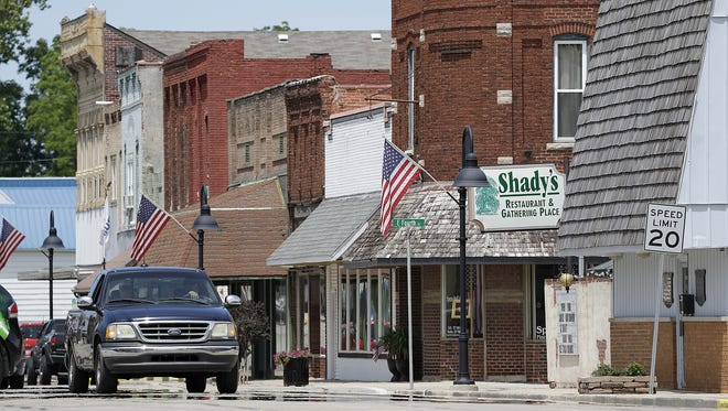 A very quiet afternoon on Main Street, Wednesday July 6, 2016, in Sheridan, Ind.