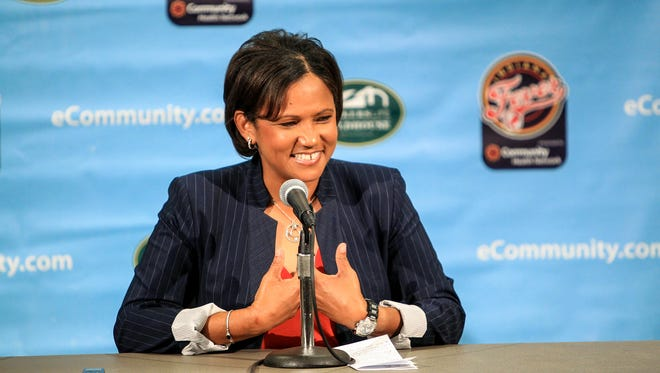 Indiana Fever name Pokey Chatman as new head coach on November 18, 2016 at Bankers Life Fieldhouse.