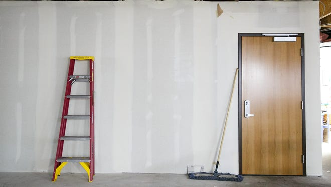 Part of the new ARCHES Project facility on Commercial Street is still under construction on Tuesday, July 24, 2018. This space will become part of the kitchen and pantry, and the door opens to the newly opened Day Center.
