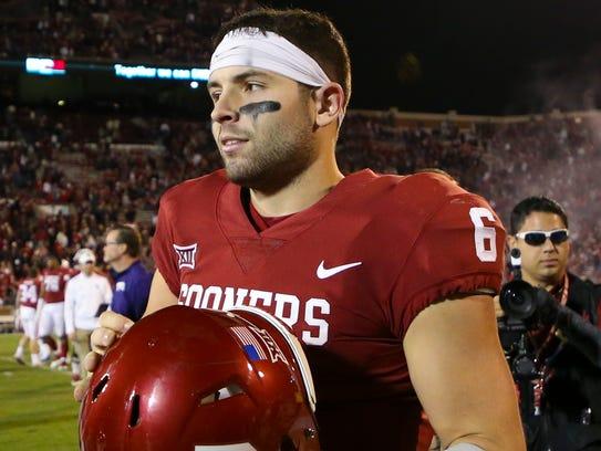 Oklahoma Sooners quarterback Baker Mayfield (6) after
