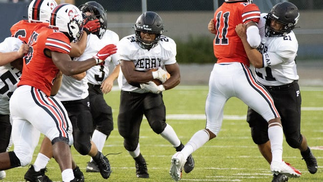 Perry senior Joshua Lemon ran for 287 yards and three touchdowns on 30 carries at McKinley on Saturday, Sept. 19, 2020.