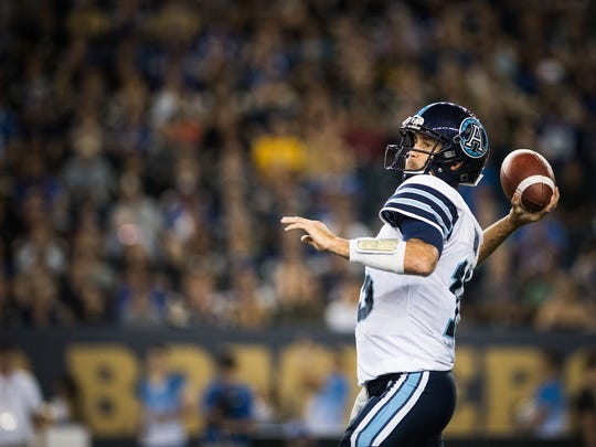 Ricky Ray (15) of the Toronto Argonauts during the