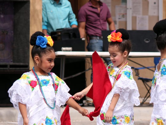 1. Folklorico dancers of all ages entertained the crowd