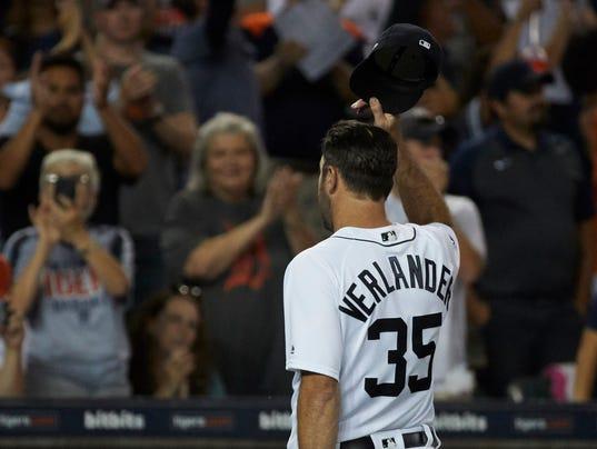 Justin Verlander, tigers fans, standing ovation