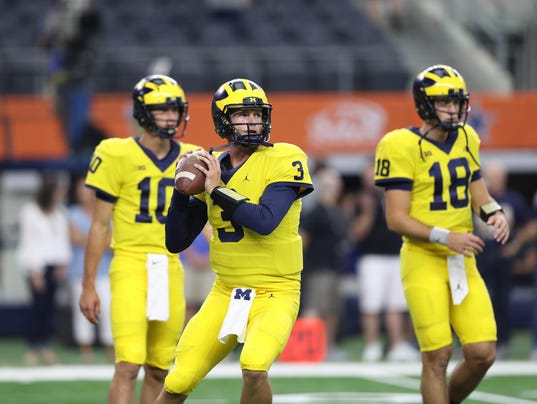 Wolverines vs. Gators, michigan quarterbacks, speight peters o'korn