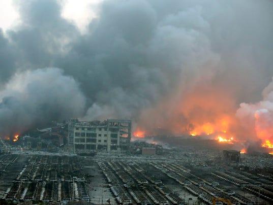 EPA CHINA TIANJIN PORT EXPLOSION DIS DISASTERS (GENERAL) CHN