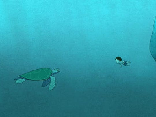 """This image released by Sony Pictures Classics shows a scene from the animated film, """"The Red Turtle."""""""