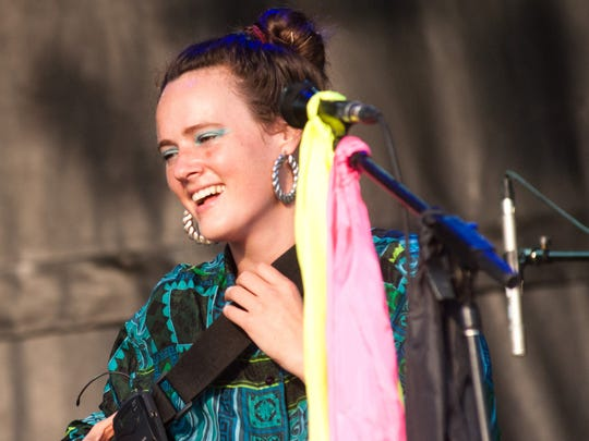 Kalmia Traver of Rubblebucket plays during the Grand Point North Festival headlined by Grace Potter and the Nocturnals on the Burlington waterfront on Saturday 13, 2011.