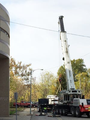 The new heat and air system is being installed this week at Zanesville City Jail.
