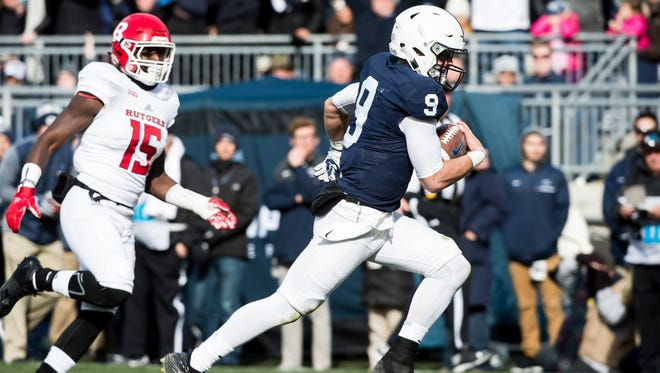 Trace McSorley threw for two scores and ran for a third in Penn State's win over Rutgers on Saturday.