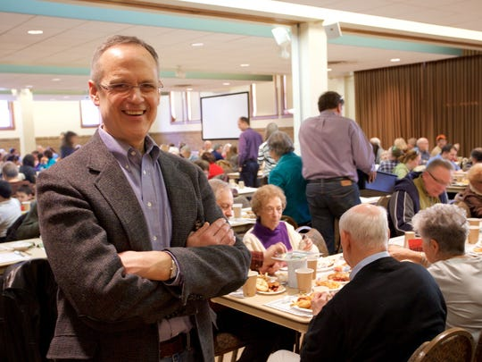 Royal Oak First United Methodist Church Rev. John Hice raves about the friendly atmosphere at the Friday night fish dinners.